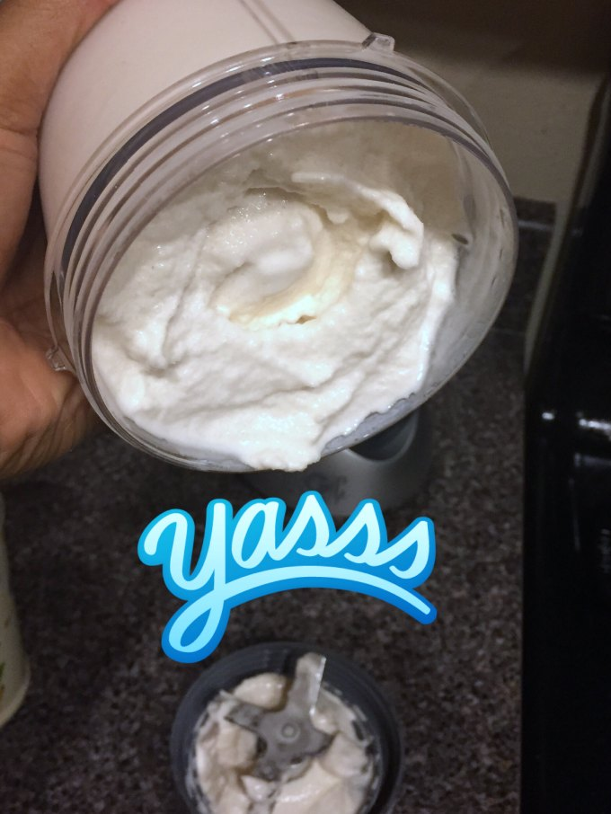 Protein ice cream made with Nutribullet. Easy and simple.