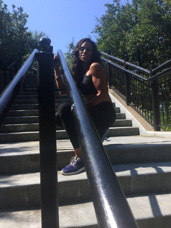 sneak peek shot from steps from photo shoot