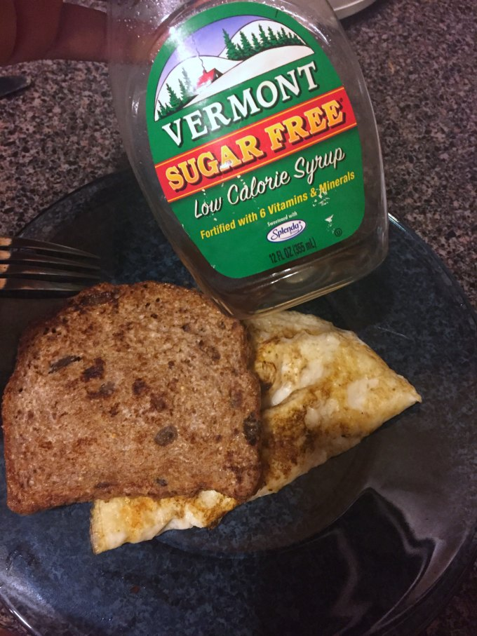 cleaning up diet with ezekiel bread french toast