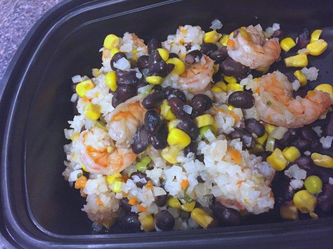 cilantro lime shrimp cauliflower rice