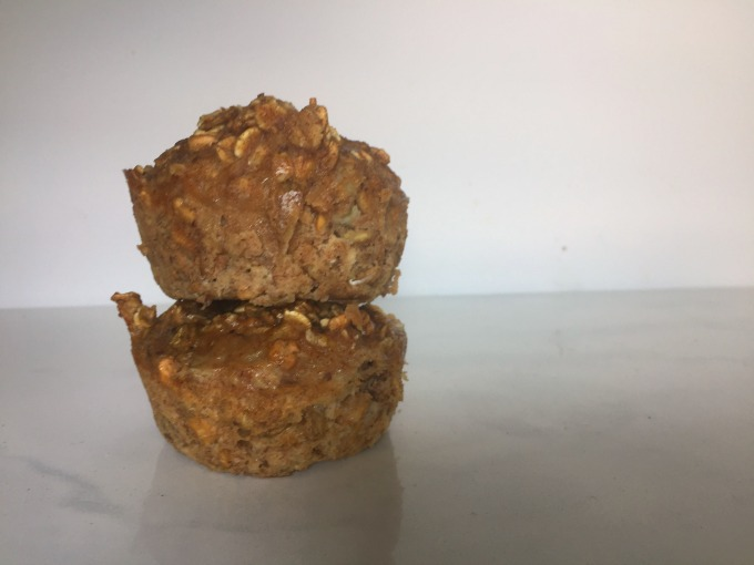 keeping it simple with banana oatmeal muffins for breakfast