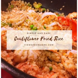 You can make healthy fried cauliflower rice to swap into your meals.
