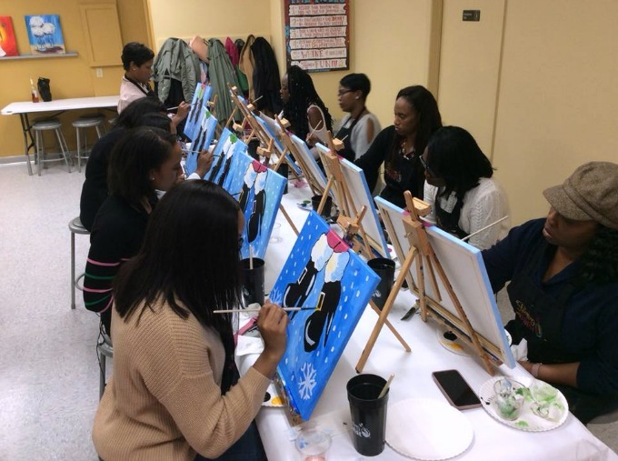 Painting with a Twist girls night out