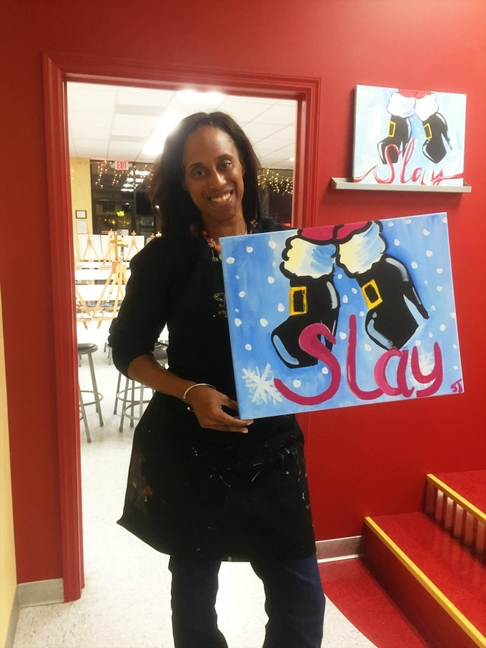 My Painting with a Twist painting of Slay your booties