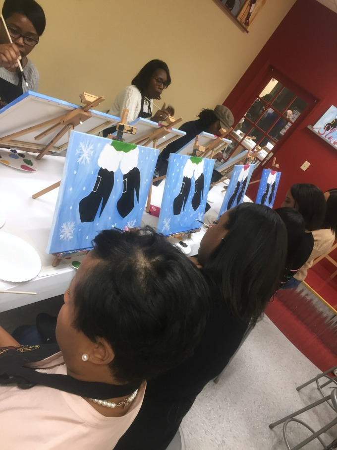 We individualized our paintings at Painting with a twist.