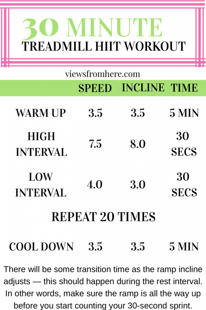 30 minute HIIT treadmill interval workout for fasted cardio